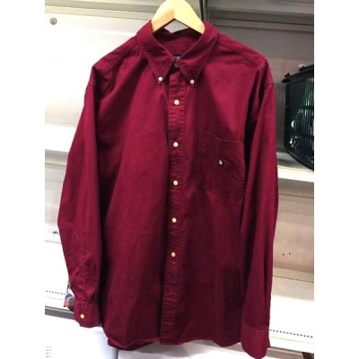 チャップス CHAPS ロゴ刺繍ボタンダウンシャツ メンズ L/G 中古 古着 210609