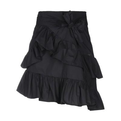 リュー ジョー LIU •JO ひざ丈スカート ブラック 38 コットン 100% ひざ丈スカート