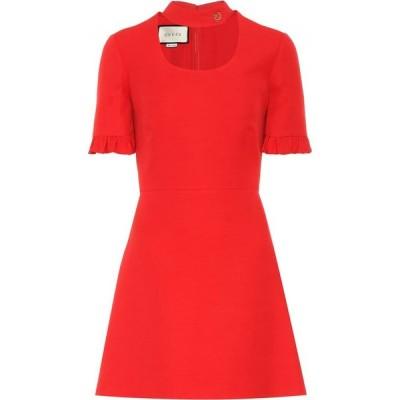 グッチ Gucci レディース パーティードレス ワンピース・ドレス silk and wool minidress Renaissance Red