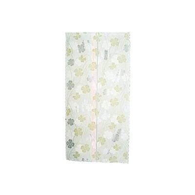 花々(hanahana) のれん 防炎&花粉キャッチ機能付き 85×170cm ミラークローバー