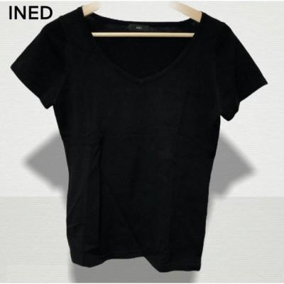 INED カットソー 半袖 ブラック 黒 トップス