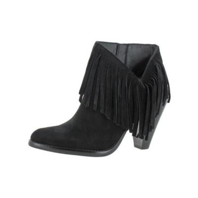 レディース 靴 コンフォートシューズ Jessica Simpson Womens Jewles Fringe Stacked Heel Ankle Boots