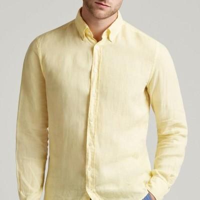 ハケットロンドン メンズ シャツ Shirt - pale yellow