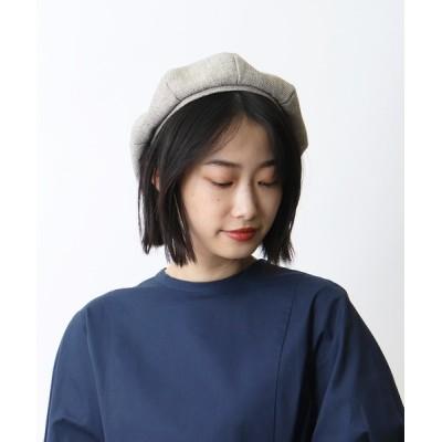 salle de bal / ▽ リネン調ベレー帽 / LINEN-STYLE BERET WOMEN 帽子 > ハンチング/ベレー帽