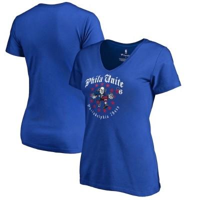 ファナティクス Tシャツ トップス レディース Philadelphia 76ers Fanatics Branded Women's Hometown Collection Ben Unite T-Shirt Royal