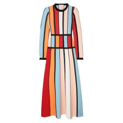 ROKSANDA 7分丈ワンピース・ドレス レッド M レーヨン 83% / ポリエステル 17% 7分丈ワンピース・ドレス