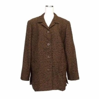 美品 Semi Vintage セミ ヴィンテージ オールド ネップツイードジャケット (ブラウン 優良古着 クラシック ウール ビンテージ) 116032