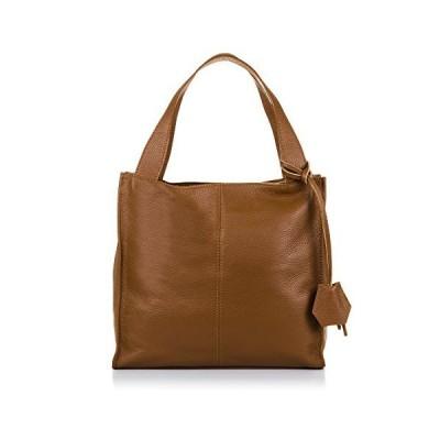 FIRENZE ARTEGIANI. Woman Geunuine Leather Handbag. Tote Top Handle Fine Soft Leather Bag.Made in Italy. Genuine Italian LEATHER34x32x14 cm. Color: Lea