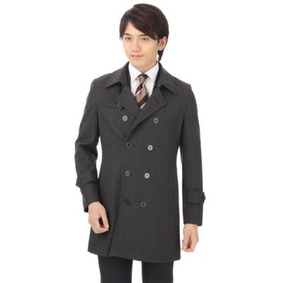 ダブルトレンチスタイリッシュコート【合繊】