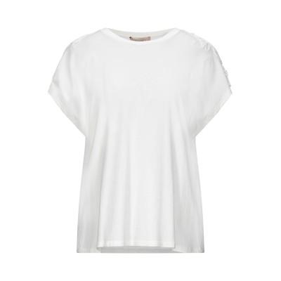 ツインセット シモーナ バルビエリ TWINSET T シャツ ホワイト XXS コットン 100% / ポリエステル T シャツ