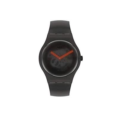 特別価格Swatch New Gent Lacquered Quartz Silicone Strap, Black, 20 Casual Watch (Mo好評販売中