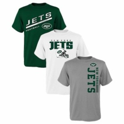 Outerstuff アウタースタッフ スポーツ用品  New York Jets Youth Green 3-Pack T-Shirt Set