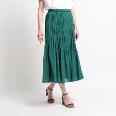 スーナウーナ(SunaUna)/【洗える】ランダムプリーツロングスカート