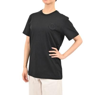 モンクレール 半袖 ロゴ Tシャツ カットソー MONCLER 8C759 00 V8161 44083 ブラック レディース