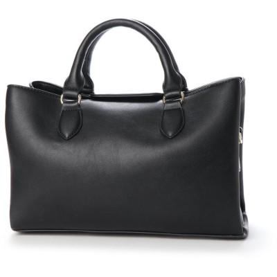 ヴィータフェリーチェ VitaFelice ハンドバッグ レディースバッグ フォーマルバッグ ミニトートバッグ 仕事バッグ (BLACK)