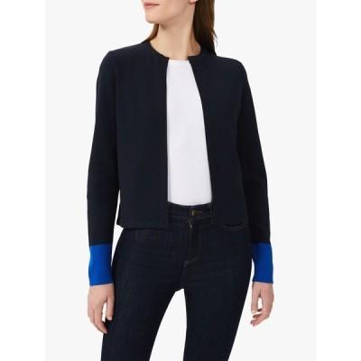 ホッブス ジャケット&ブルゾン レディース アウター Hobbs Victoria Knit Jacket, Navy/Azure Blue