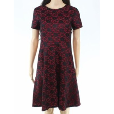 Betsey Johnson ベッツィージョンソン ファッション ドレス Betsey Johnson Womens Dress Red Size 6 Sheath Floral-Lace Crewneck