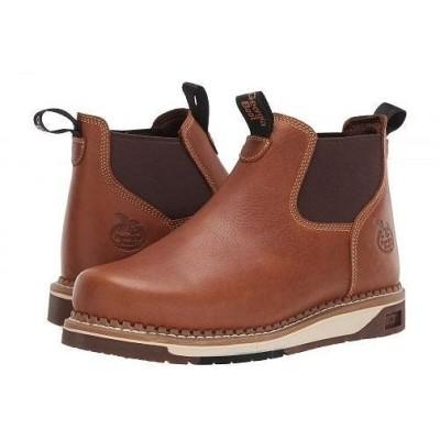 Georgia Boot ジョージアブーツ メンズ 男性用 シューズ 靴 ブーツ チェルシーブーツ AMP LT Wedge Chelsea Soft Toe Work Boot - Brown