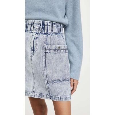 シー Sea レディース ミニスカート スカート Betty Acid Wash Mini Skirt Blue
