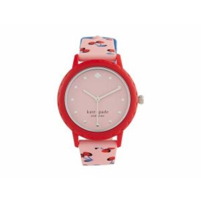 ケイトスペード レディース 腕時計 アクセサリー Morningside Three Hand Silicone Watch Red