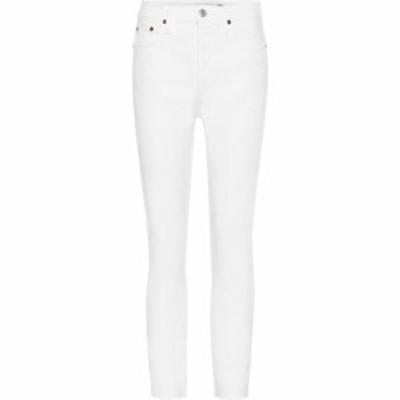 リダン Re/Done レディース ジーンズ・デニム ボトムス・パンツ High-rise ankle crop skinny jeans White