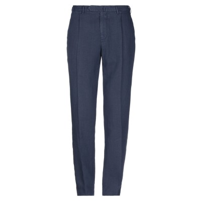 SANTANIELLO パンツ ブルー 54 リネン 100% パンツ