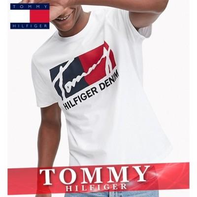 トミーヒルフィガー 無地Tシャツ 半袖 メンズ ロゴ オーガニックコットン 丸首 XS〜XXL 新作 TOMMY