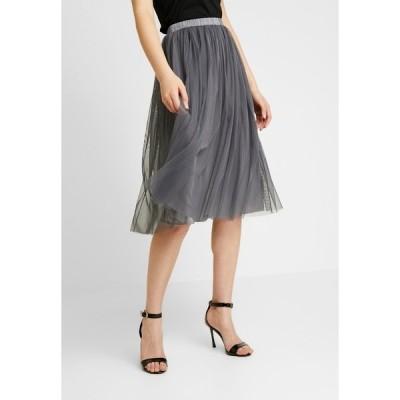 レースアンドビーズ スカート レディース ボトムス VAL SKIRT - A-line skirt - charcoal
