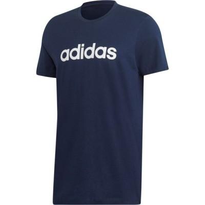 アディダス adidas メンズ Tシャツ トップス Essentials Linear T-Shirt ColNavy/White