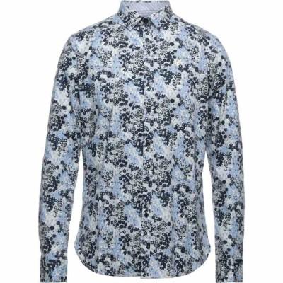 ディストレス DSTREZZED メンズ シャツ トップス Patterned Shirt Light grey
