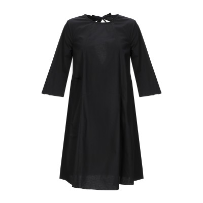 SOALLURE ミニワンピース&ドレス ブラック 38 コットン 97% / ポリウレタン 3% ミニワンピース&ドレス