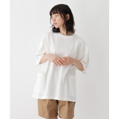 tシャツ Tシャツ 抗菌防臭 ビッグシルエット カーゴポケット ロゴワンポイント刺繍Tシャツ