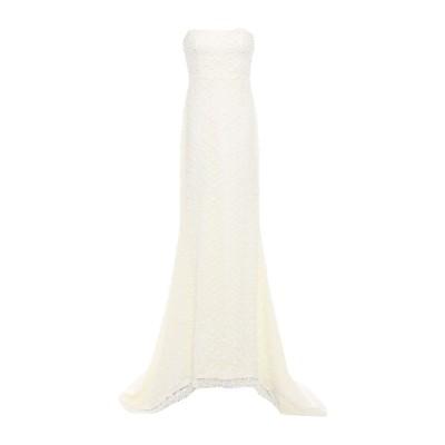 THREE FLOOR ロングワンピース&ドレス アイボリー 12 ポリエステル 100% ロングワンピース&ドレス