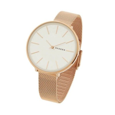 腕時計 スカーゲン レディース Skagen SKW2688 Women's Karolina Rose Gold Tone Mesh Bracelet Watch