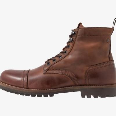 ジャックアンドジョーンズ メンズ 靴 シューズ JFWEAGLE - Lace-up ankle boots - brown stone