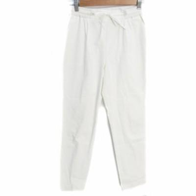 【中古】ザラ トラファルック ZARA パンツ タック テーパード イージー ロング丈 XS 白 ホワイト /FF14 レディース