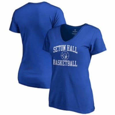Fanatics Branded ファナティクス ブランド スポーツ用品  Fanatics Branded Seton Hall Pirates Womens Royal In Bounds V-Neck T-Shirt