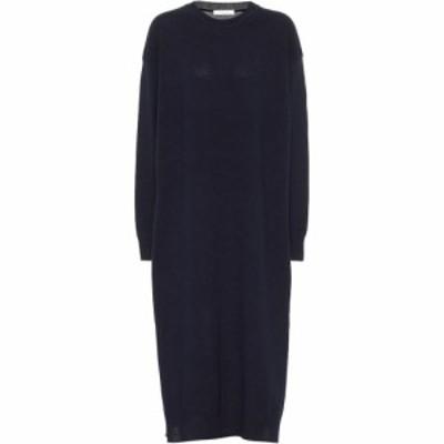 ザ ロウ The Row レディース ワンピース ミドル丈 ワンピース・ドレス Anibale Cashmere Midi Dress Navy