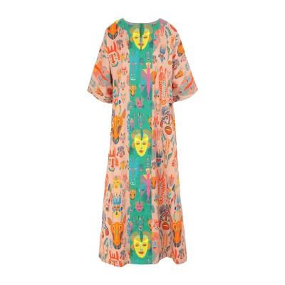 RIANNA + NINA ロングワンピース&ドレス ベージュ S/M コットン 100% ロングワンピース&ドレス