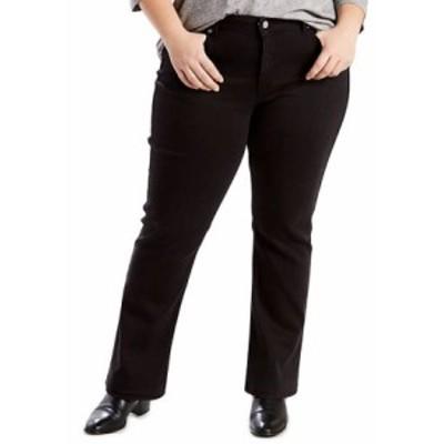 リーバイス レディース デニムパンツ ボトムス Plus Size Classic Straight Jeans Black