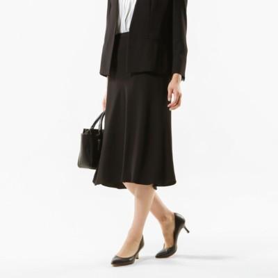 【Sサイズ〜】【セットアップ対応】【美Skirt】【ウォッシャブル】バックサテンジョーゼットスカート