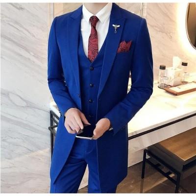 スーツ メンズ お洒落 結婚式 フォーマル ビジネススーツ おしゃれ 披露宴 通勤 カジュアルスーツ メンズスーツ ジャケット 仕事 セットアップ 3ピーススーツ