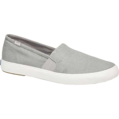 ケッズ Keds レディース スリッポン・フラット シューズ・靴 Clipper Washed Solids Slip On Light Gray Twill
