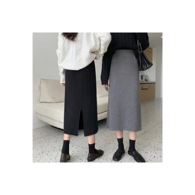 【送料無料】ニッティング 手厚い スカート 女 秋と冬 韓国風 ハイウエスト 着やせ 何でも似合う | 346770_A64507-8089353
