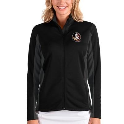 アンティグア ジャケット・ブルゾン アウター レディース Florida State Seminoles Antigua Women's Passage Full-Zip Jacket Black/Charcoal