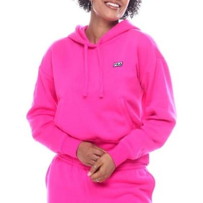 フィラ Fila レディース パーカー トップス marina ultimate fleece hoodie Pink