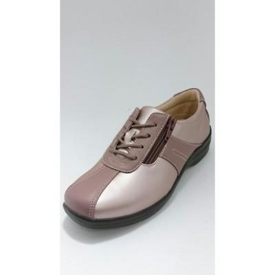 ムーンスター 靴 レディースコンフォートシューズ 軽量 外反母趾 4E EVE195 ピンクC
