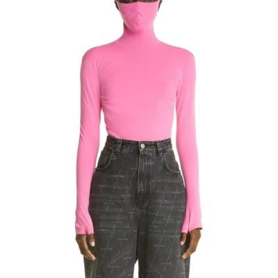 バレンシアガ BALENCIAGA レディース トップス タートルネック マスク Tech Knit Mask Turtleneck Pink