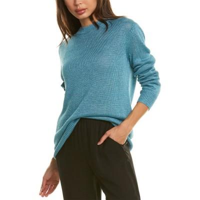 セオリー ニット&セーター アウター レディース Theory Solid Linen-Blend Sweater teal