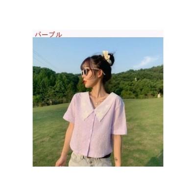 【送料無料】ピープル形の襟 レース 優しい 風 トップス 女性のシャツ | 364331_A62752-8842970